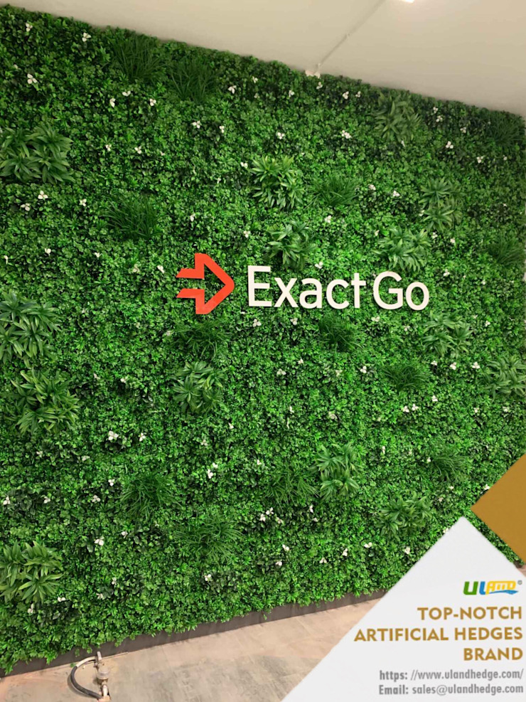 Artificial Plants Wall Decor in Netherlands- Sunwing Customers' Project Modern walls & floors by Sunwing Industrial Co., Ltd. Modern Plastic