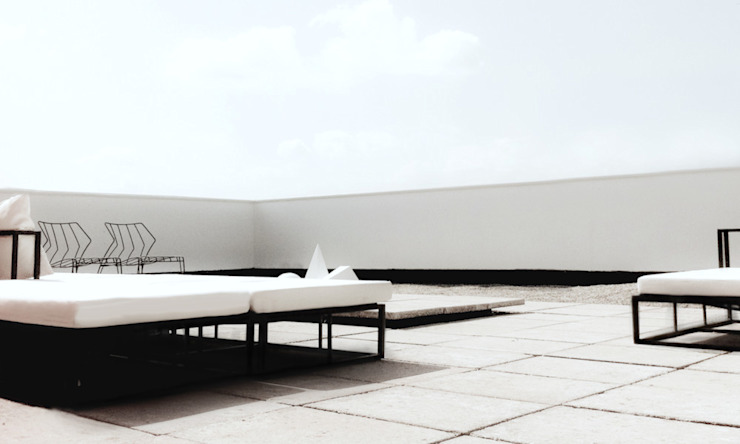 APARTMENT ZEN STUDIO H ARCHITECTURE & INTERIOR Moderner Balkon, Veranda & Terrasse