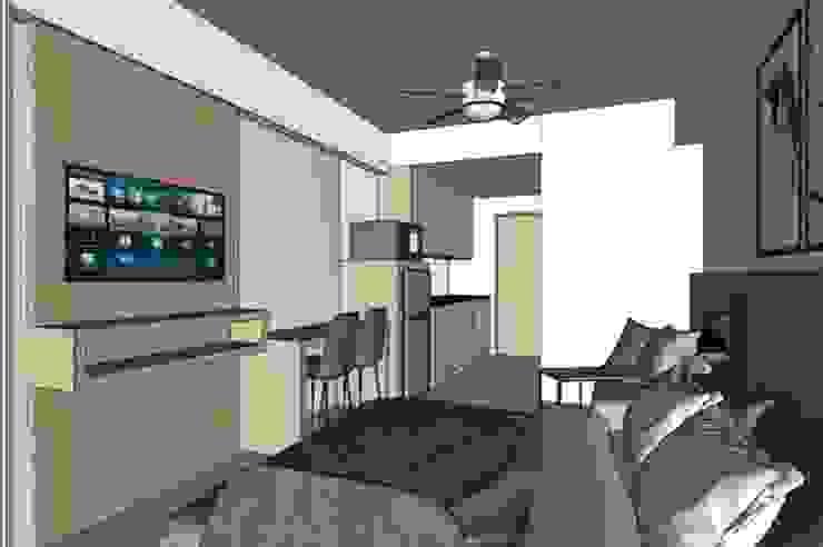 AirBnb unit Modern style bedroom by Quadraforma Construction Modern