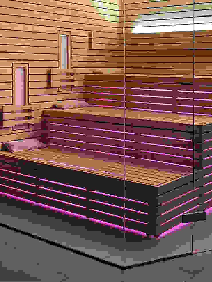 Individuelle Sauna mit indirekter LED-Beleuchtung und Farblicht | KOERNER Saunamanufaktur von KOERNER SAUNABAU GMBH Modern