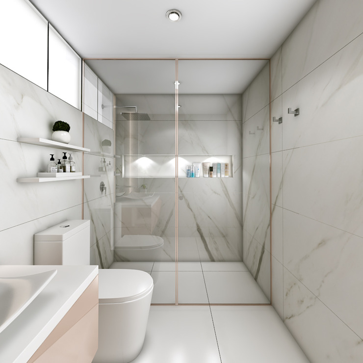 Proyecto San Borja Baños modernos de Andrea Studio Moderno