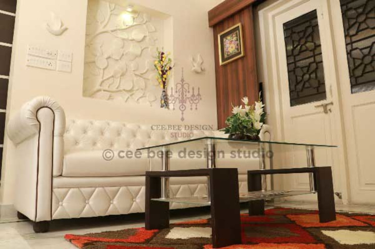 Villa Renovation of Mr Tanmay Banerjee Kolkata Classic style living room by Cee Bee Design Studio Classic