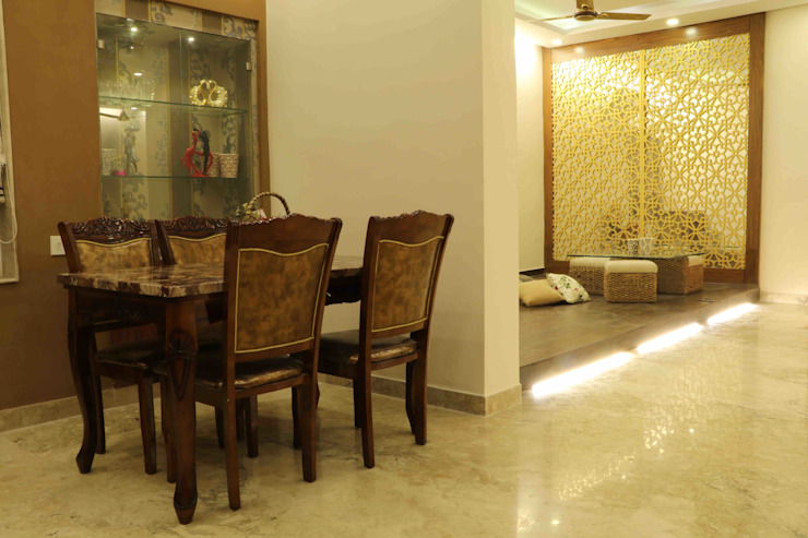 Villa Renovation of Mr Tanmay Banerjee Kolkata Classic style dining room by Cee Bee Design Studio Classic