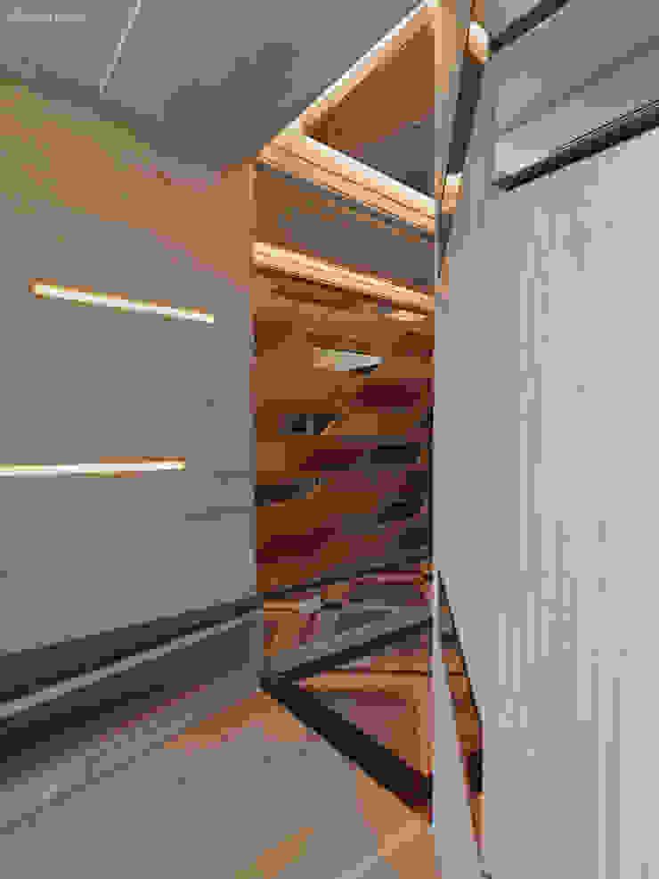 河畔迎景 現代風玄關、走廊與階梯 根據 拾雅客空間設計 現代風 大理石