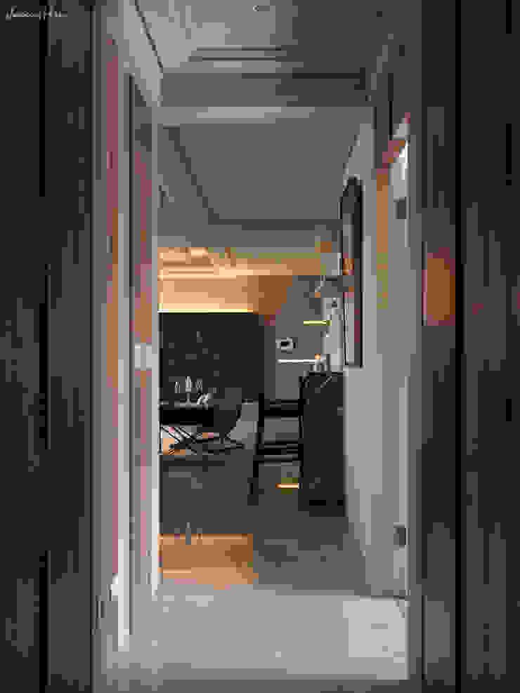 河畔迎景 現代風玄關、走廊與階梯 根據 拾雅客空間設計 現代風 合板