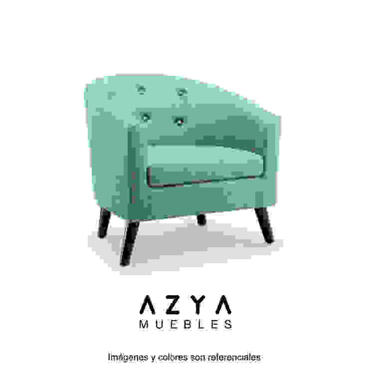 Butaca Dalila de AZYA MUEBLES Minimalista Textil Ámbar/Dorado