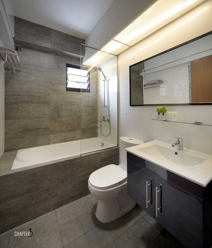 Main Bathroom View Chapter 3 Interior Design Minimalist style bathroom