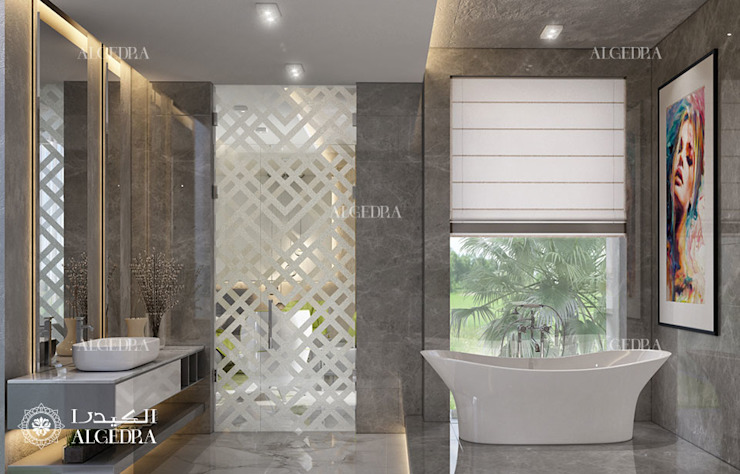 Bathroom design in Dubai villa 現代浴室設計點子、靈感&圖片 根據 Algedra Interior Design 現代風