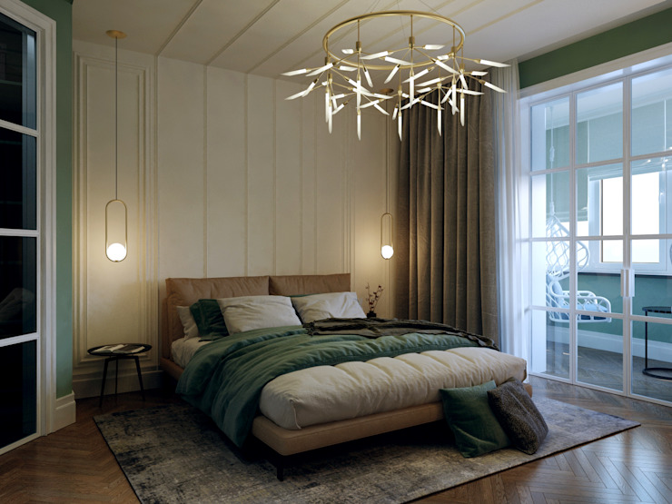 Minimalist bedroom by Творческая мастерская Твердый Знак Minimalist
