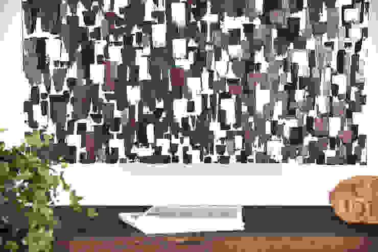 grande pittura astratta geometrica per living / arte contemporanea di Ebanisteria Cavallaro Moderno
