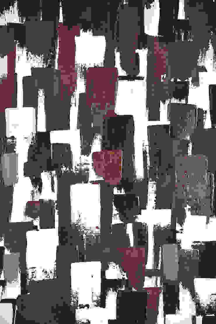 grande pittura astratta geometrica per living / arte contemporanea:  in stile industriale di Ebanisteria Cavallaro, Industrial