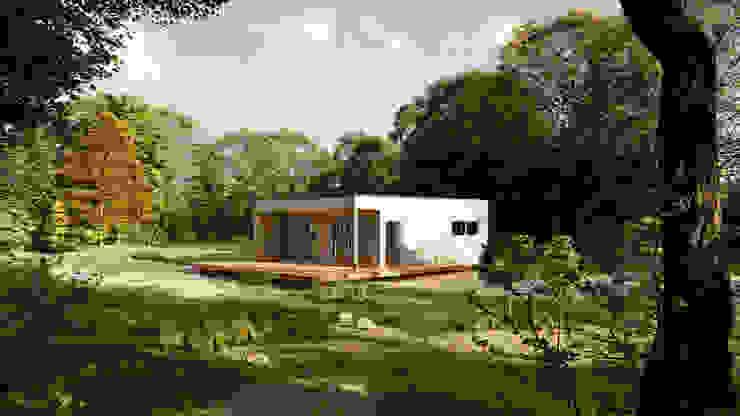 Kleines Einfamilienhaus von DOUBLE W Architekten Minimalistisch Holz Holznachbildung