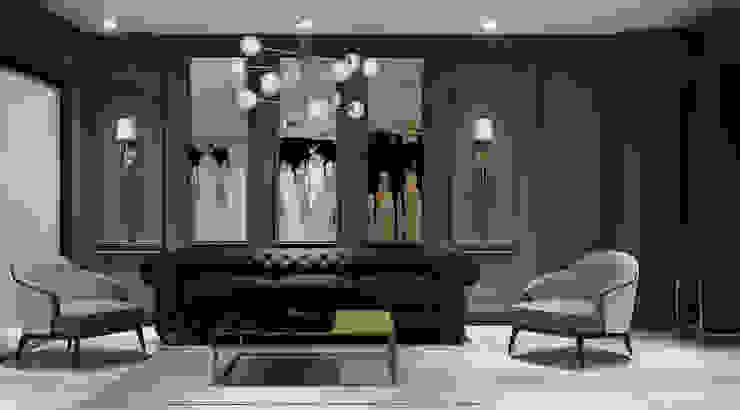 Timuçin Bey Villa Modern Oturma Odası İçmimar Özge Önder Modern