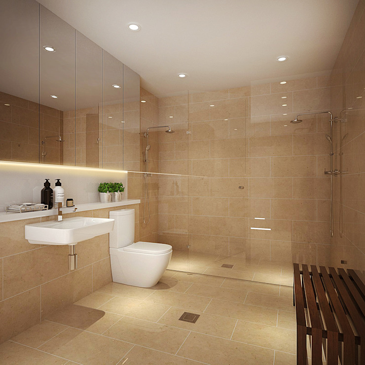 Master Bathroom Modern style bathrooms by Spacematic Studio Modern