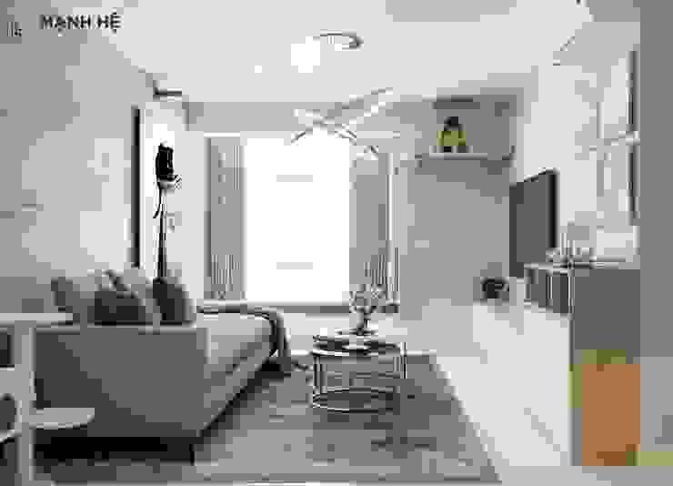 Nội thất phòng khách bởi Công ty TNHH Nội Thất Mạnh Hệ Hiện đại MDF