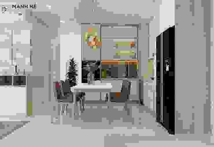 Tủ bếp và bàn ăn hiện đại bởi Công ty TNHH Nội Thất Mạnh Hệ Hiện đại Cao su