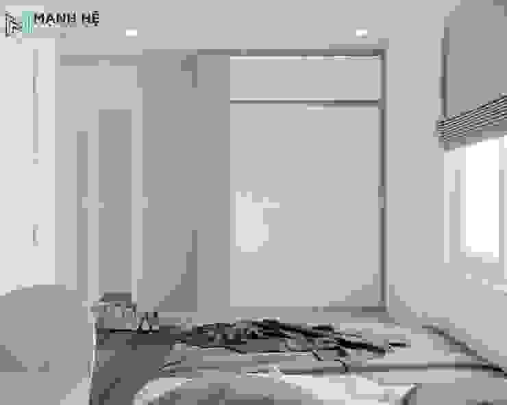 Tủ quần áo phòng ngủ cửa lùa bởi Công ty TNHH Nội Thất Mạnh Hệ Hiện đại Đá hoa cương