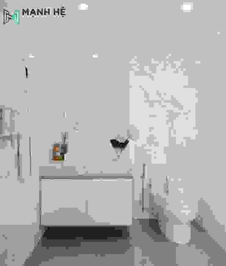 Tủ gắn dưới lavabo tiện lợi để dựng vật dụng nhà tắm Phòng tắm phong cách hiện đại bởi Công ty TNHH Nội Thất Mạnh Hệ Hiện đại