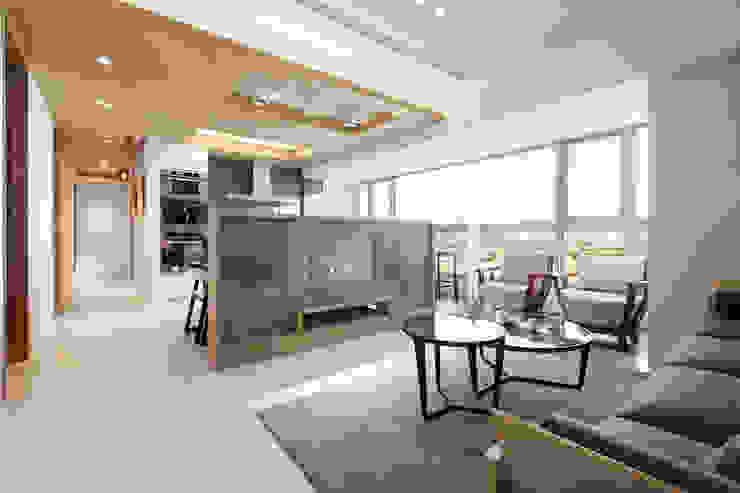 河岸對話 现代客厅設計點子、靈感 & 圖片 根據 拾雅客空間設計 現代風 大理石