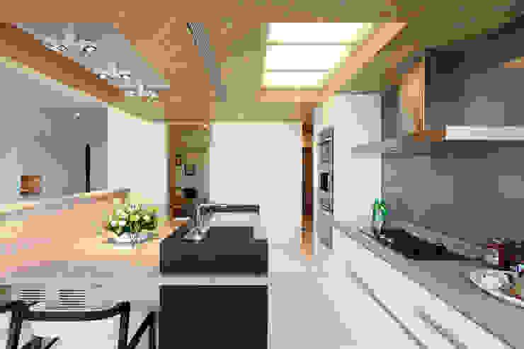 河岸對話 現代廚房設計點子、靈感&圖片 根據 拾雅客空間設計 現代風 合板
