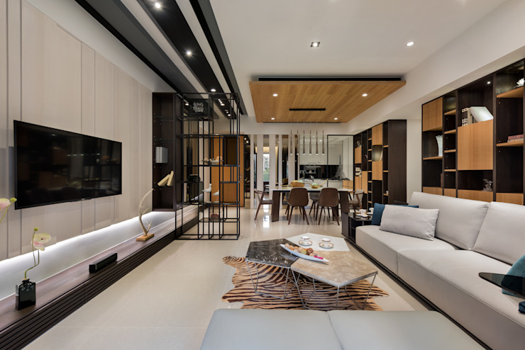 藏旅 现代客厅設計點子、靈感 & 圖片 根據 拾雅客空間設計 現代風 合板