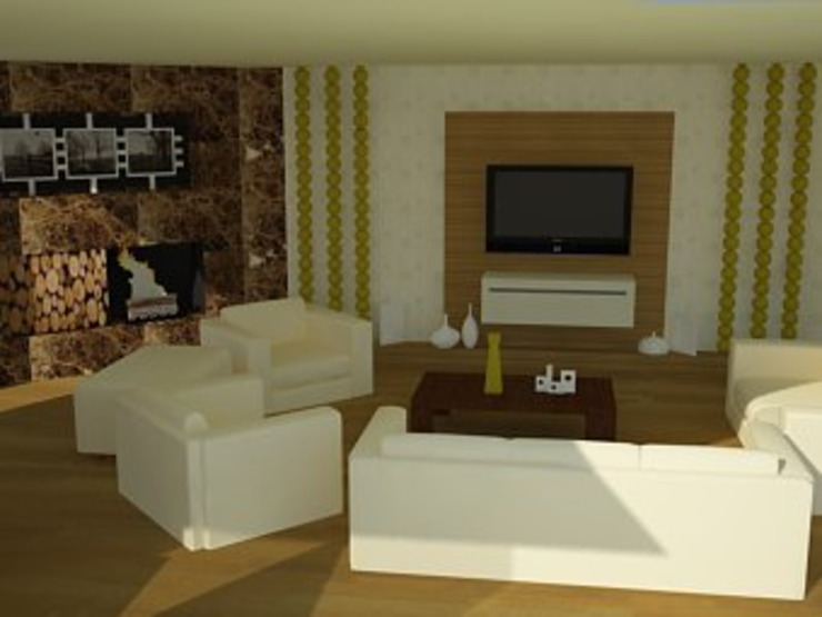 by SERPİCİ's Mimarlık ve İç Mimarlık Architecture and INTERIOR DESIGN Rustic Wood-Plastic Composite