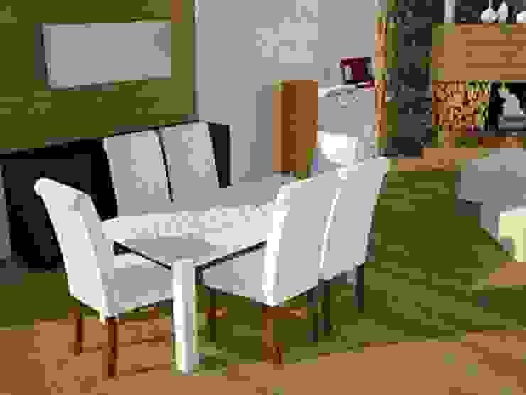 Rustic style dining room by SERPİCİ's Mimarlık ve İç Mimarlık Architecture and INTERIOR DESIGN Rustic Wood-Plastic Composite