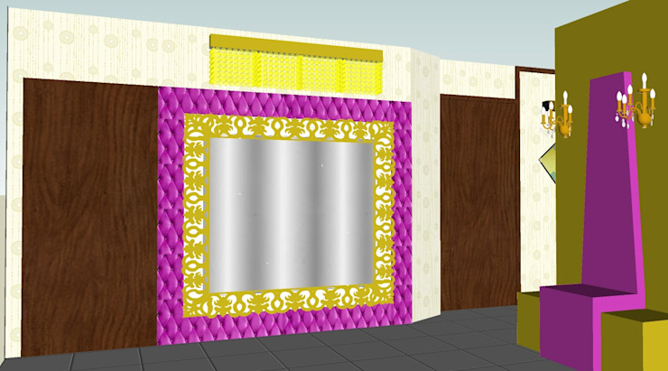 Minimalist corridor, hallway & stairs by SERPİCİ's Mimarlık ve İç Mimarlık Architecture and INTERIOR DESIGN Minimalist Wood-Plastic Composite