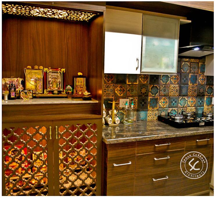 Kitchen & pooja by Space Collage Classic