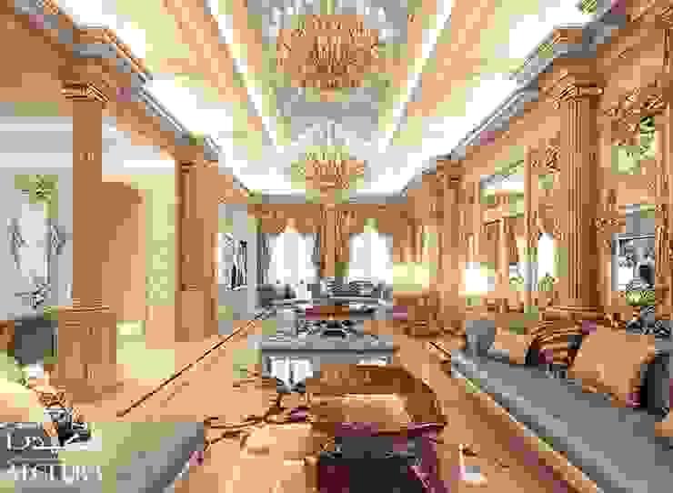 تصميم مجلس في فيلا فاخرة على الطراز الكلاسيكي من Algedra Interior Design كلاسيكي
