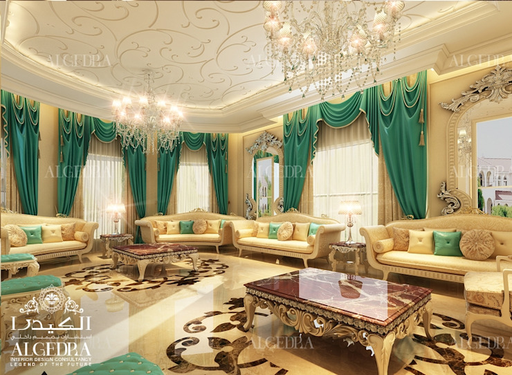 ديكور داخلي لمجلس فاخر من Algedra Interior Design كلاسيكي