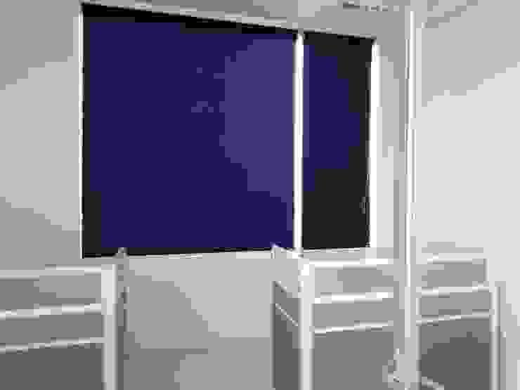 Persiana Enrollable en Oficinas de Persianas Jaramillo B CDMX Minimalista Textil Ámbar/Dorado