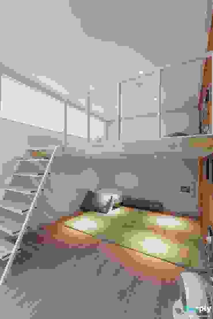 전주인테리어 신시가지 아이파크 40평대 아파트인테리어 by 디자인투플라이 러스틱 (Rustic)