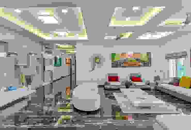 Residential Interior at Sankeshwar, Karnataka Modern living room by A B Design Studio Modern