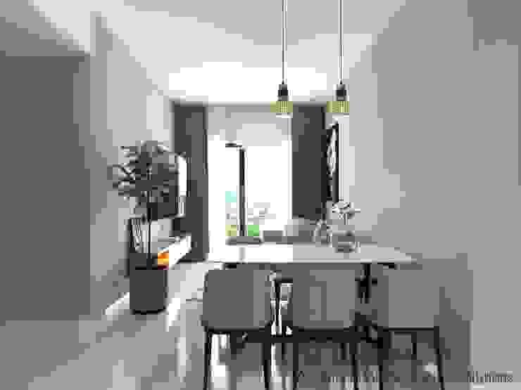 Thiết Kế Nội Thất Căn Hộ Masteri An Phú 2 Phòng Ngủ Phòng ăn phong cách hiện đại bởi Deco Việt Hiện đại