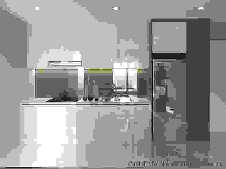 Thiết Kế Nội Thất Căn Hộ Masteri An Phú 2 Phòng Ngủ Nhà bếp phong cách hiện đại bởi Deco Việt Hiện đại