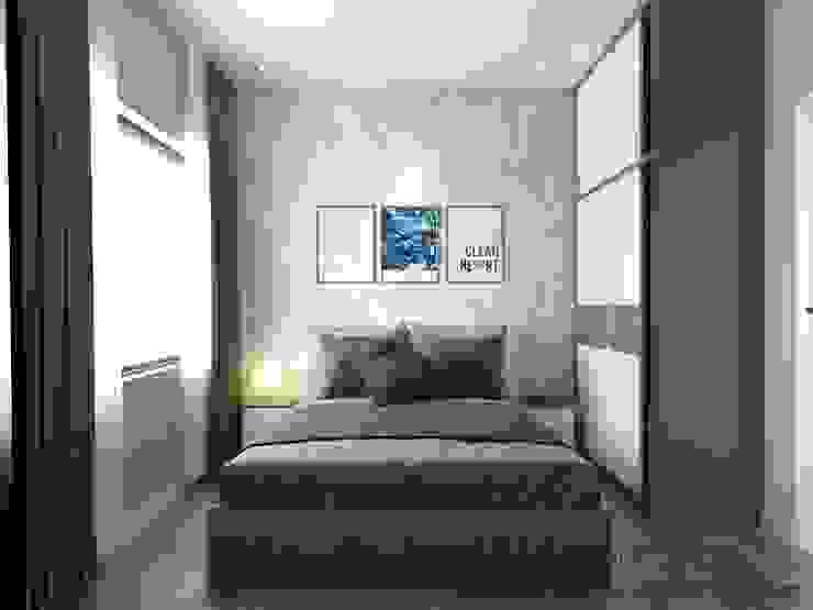 Thiết Kế Nội Thất Căn Hộ Masteri An Phú 2 Phòng Ngủ Phòng ngủ phong cách hiện đại bởi Deco Việt Hiện đại