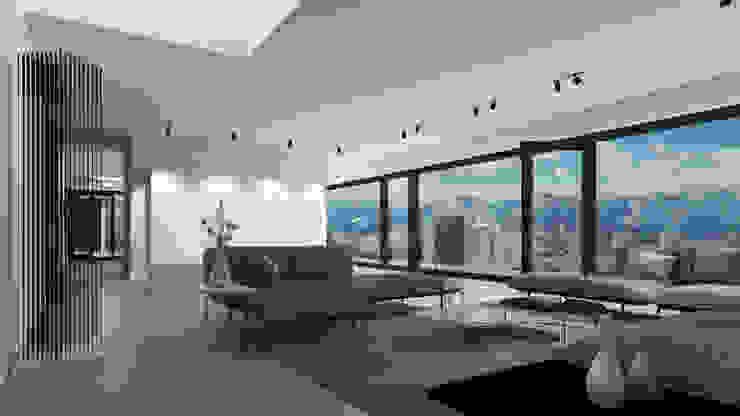 Einfamilienhaus (Projekt 259) Karl Kaffenberger Architektur | Einrichtung Moderne Wohnzimmer