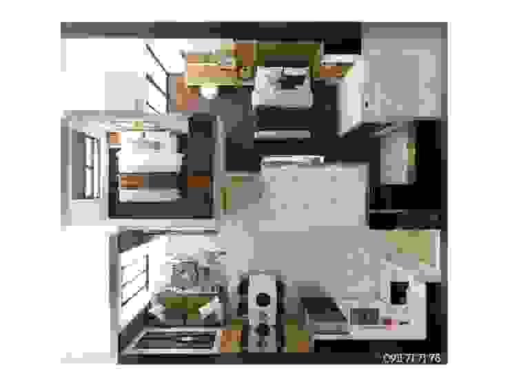 Thiết Kế Nội Thất Căn Hộ Newton 2 Phòng Ngủ bởi Deco Việt Hiện đại