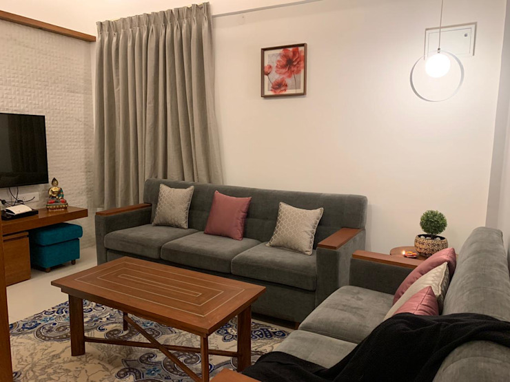 Asian style living room by Mallika Seth Asian