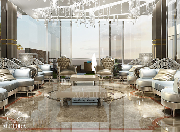 Extravagant majlis contemporary style Modern living room by Algedra Interior Design Modern