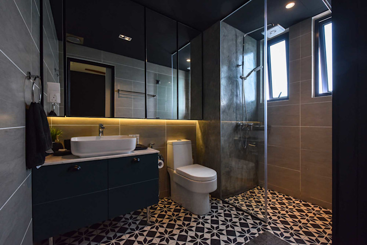 ASCENDA RESIDENCE Country style bathrooms by BOLDNDOT SDN BHD Country