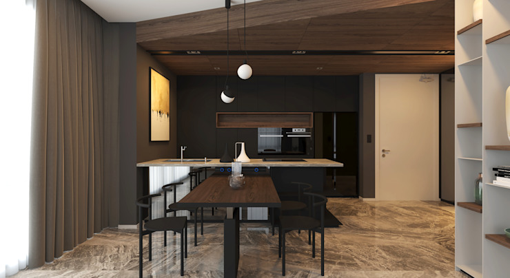 ARIA LUXURY RESIDENCE BOLDNDOT SDN BHD Modern dining room Black