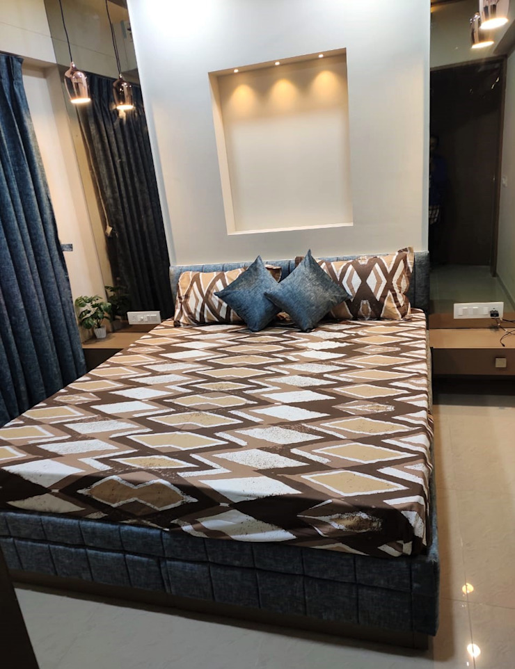 Asian style bedroom by Monoceros Interarch Solutions Asian Plywood