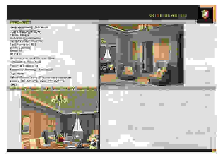 3D shots for reception & enterance من Doaa Gamal Studio حداثي