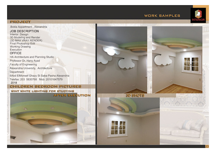 Execution pictures for children room من Doaa Gamal Studio حداثي