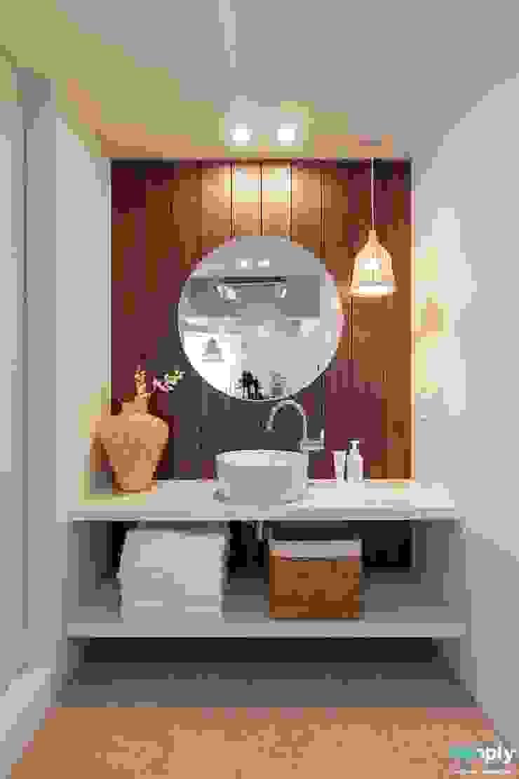 전주인테리어 모던하면서 동양적인 상가주택 인테리어 아시아스타일 욕실 by 디자인투플라이 한옥