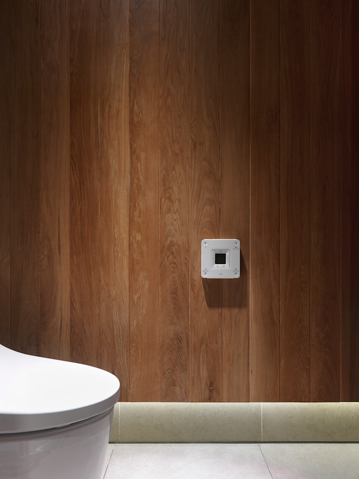 木耳生活藝術-室內設計/綠色的家 現代浴室設計點子、靈感&圖片 根據 木耳生活藝術 現代風 實木 Multicolored