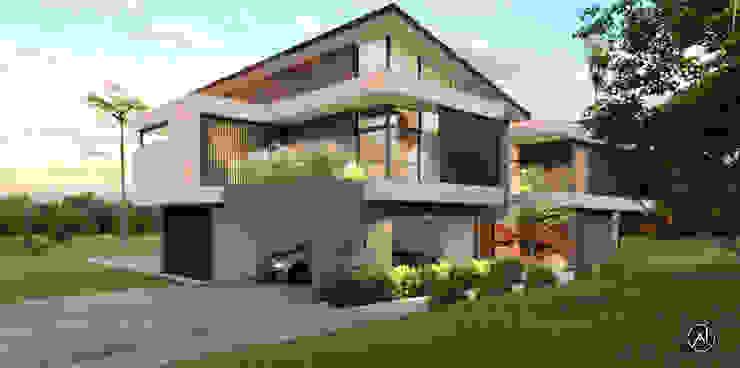 Architexture Lab Maisons modernes Briques Beige
