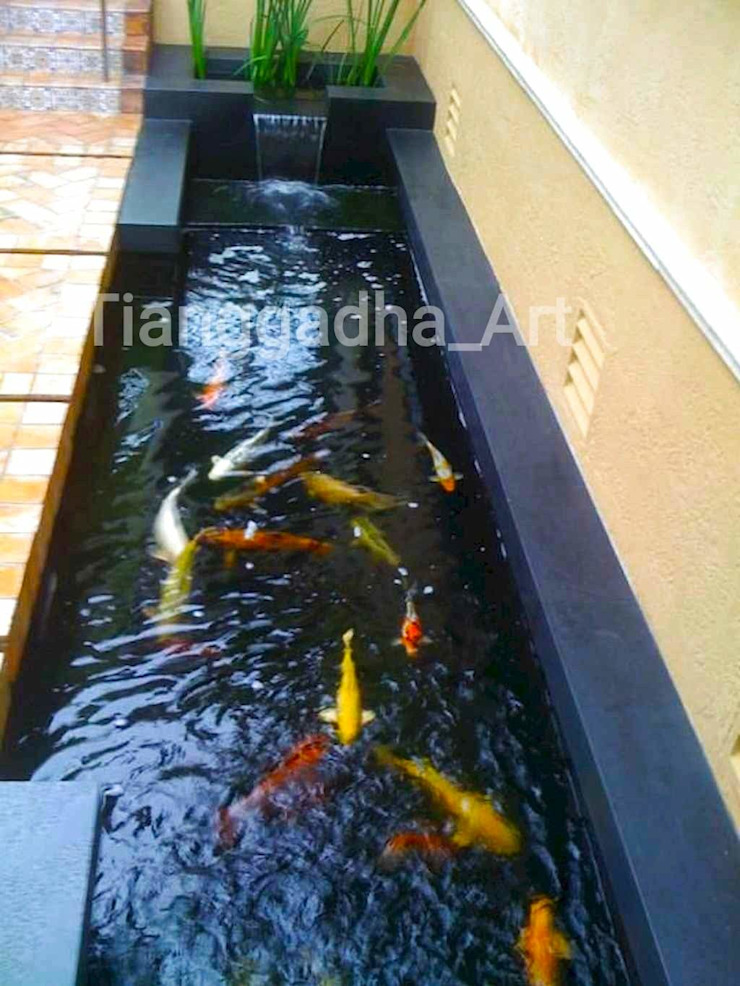Tukang Kolam Ikan Koi Semarang. Oleh Tukang Taman Surabaya - Tianggadha-art Minimalis Beton Bertulang